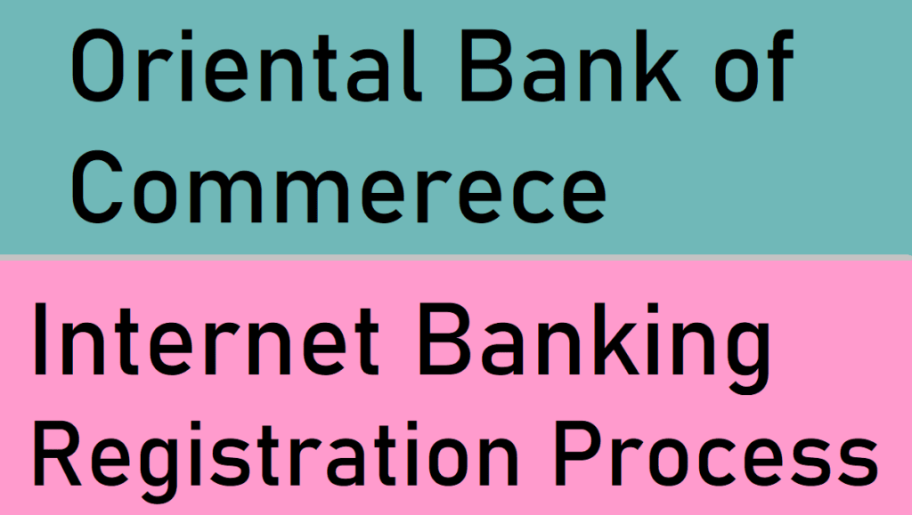 OBC Net Banking Registration