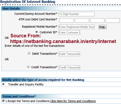 Canara bank net banking ipo application