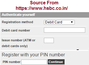 HSBC Personal Internet Banking Online Registration