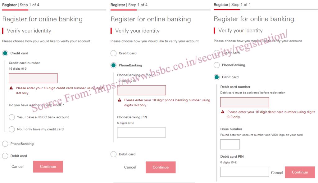 HSBC Personal Internet Banking Registration
