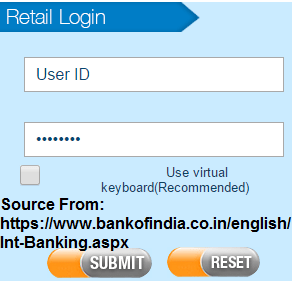 BOI Online internet Banking Registration
