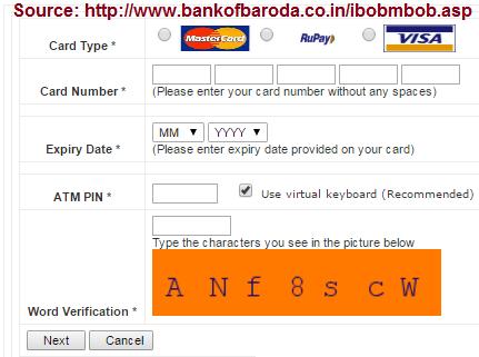 BOB eBanking online registration
