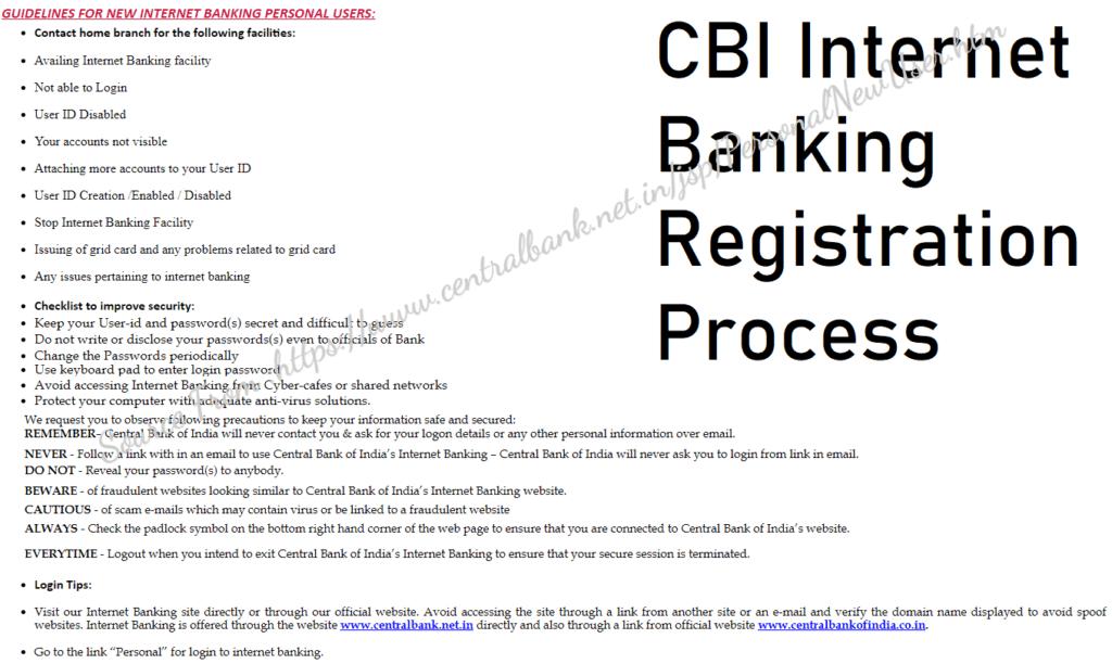 CBI Online Internet Banking Registration