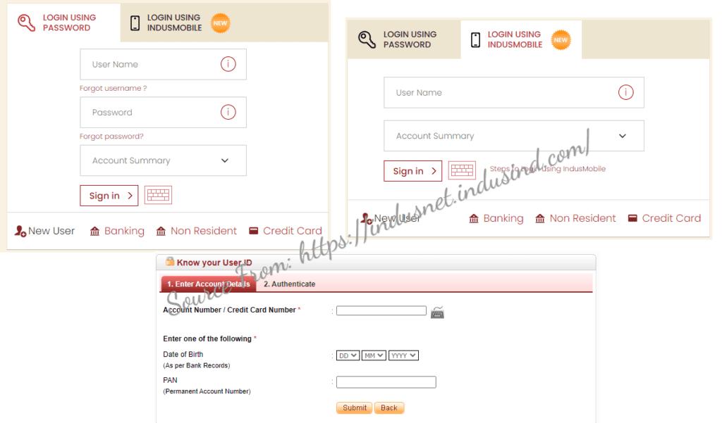 IndusInd Net Banking Registration