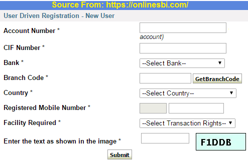 sbi internet banking online registration