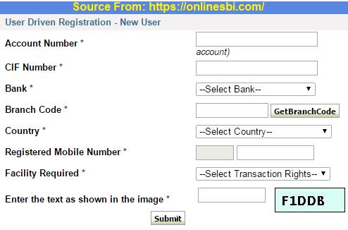 sbi internet banking online registration
