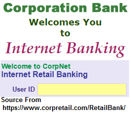 Corporation Bank Personal Net Banking Online Registration