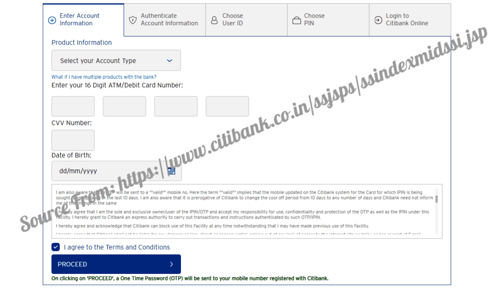Citibank Internet Banking