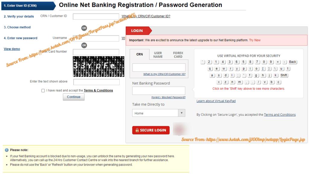 Kotak Mahindra Bank Internet Banking
